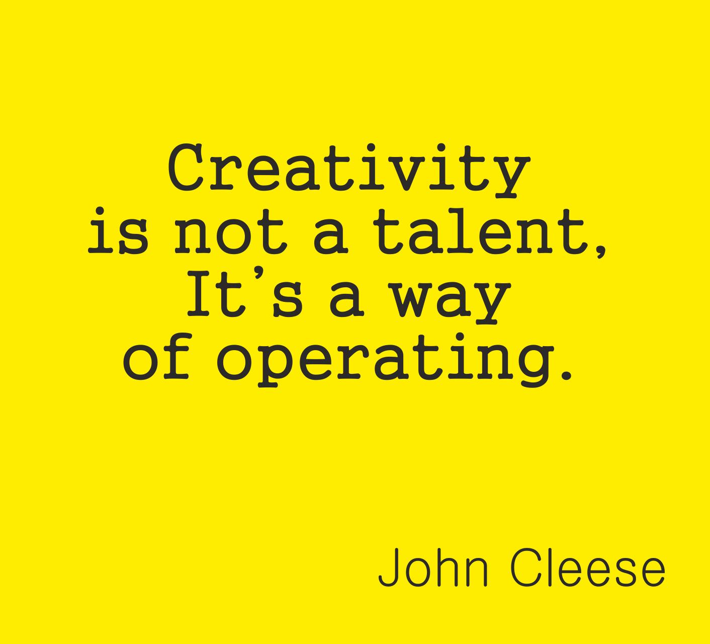 Креативността не е талант